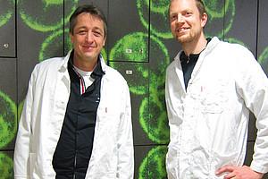 Frank Madeo (l.) und Tobias Eisenberg entdeckten einen Mechanismus für die Zellreinigung. Foto: Madeo/Eisenberg.