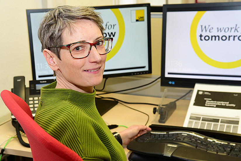 Elisabeth Hillebrand-Augustin ist seitens der Uni Graz für die Arqus Action Line 3 verantwortlich. Foto: Uni Graz/Leljak.