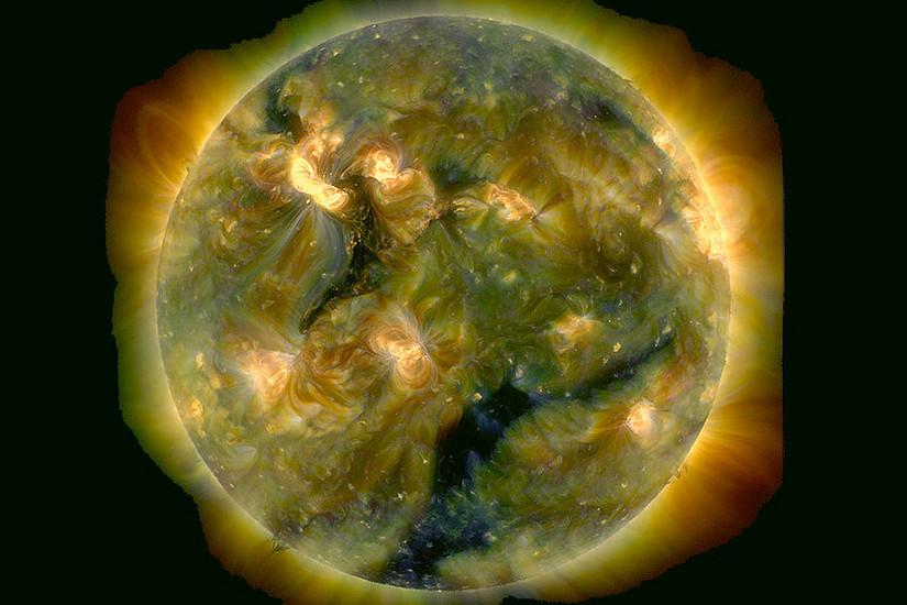 Bildtext: Aufnahme des Atmospheric Imaging Assembly (AIA) an Bord des Solar Dynamics Observatory (SDO) der NASA. Bild: NASA SDO/AIA