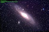 Andromeda Galaxy, Bild: Arnold Hanslmeier, 09/2016