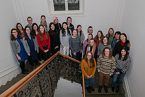 Die TeilnehmerInnen der Winter School mit Edvina Besic und Petra Romero-Schmidt von der Universität Graz. Foto: Uni Graz/Leljak.