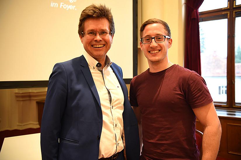 Vizerektor Martin Polaschek (links) motivierte, der ehemalige ÖH-Chef Markus Trebuch schrieb.