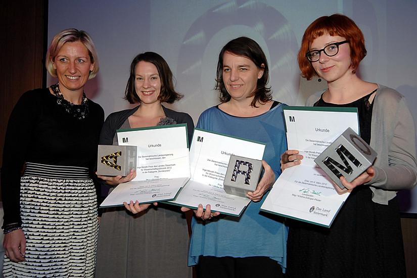LR Kristina Edlinger-Ploder, Gerhild Kastrun, Ulrike Schmitzer und Julia Schafferhofer (v.l.).