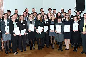 40 junge WissenschafterInnen aus ganz Österreich erhielten für ihre Dissertationen den Award of Excellence. Foto:Willy Haslinger