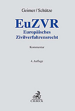 EuZVR Europäisches Zivilverfahrensrecht