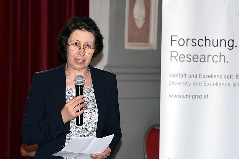 Dekanin Barbara Gasteiger-Klicpera begrüßte die TeilnehmerInnen der Veranstaltung im Meerscheinschlössl.