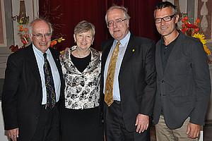 Paul Lauter, Justine Tally, Walter Hölbling und Klaus Rieser (v.l.)
