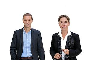 Vizerektorin Petra Schaper-Rinkel und Vizerektor Christof Gattringer im Interview. Foto: Uni Graz/Eisenberger