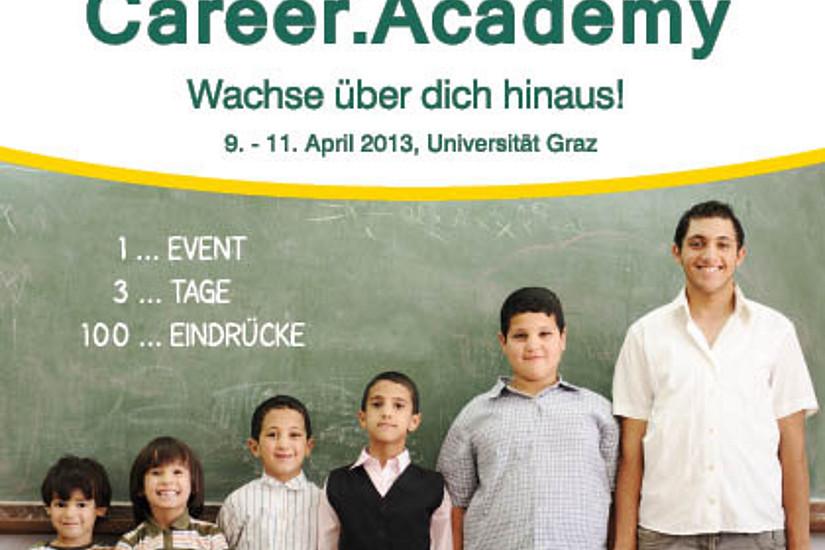 Die Career Academy findet von 9. bis 11. April 2013 statt. Teilnehmen können Master-Studierende der Wirtschafts-, Umwelt- und Rechtswissenschaften an der Uni Graz.