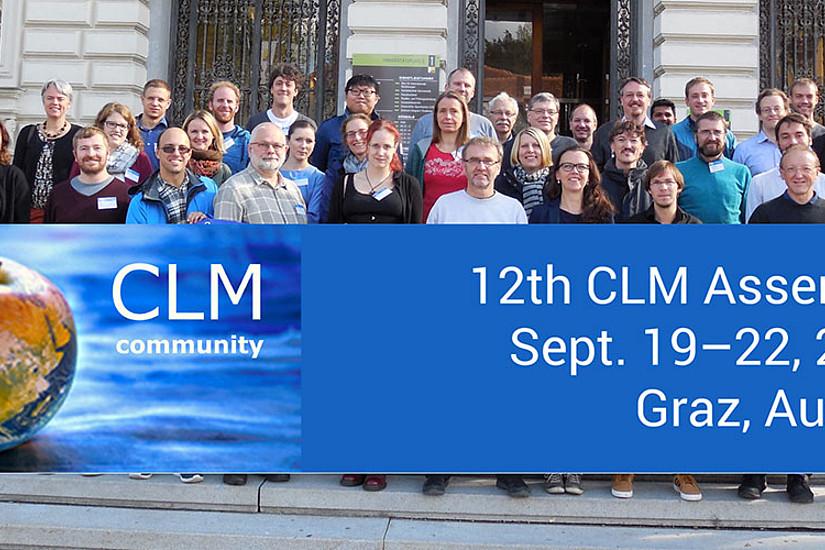 Die TeilnehmerInnen der CLM Community Assembly 2017 vor der Uni Graz. Foto: Uni Graz/Wegener Center