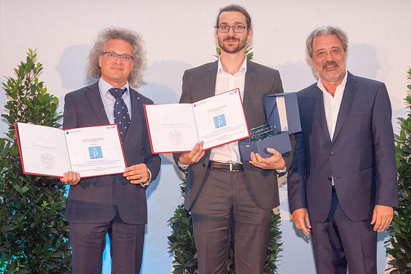 Ars docendi-Preisträger der Uni Graz: Univ.-Prof. Dr. Stephan Moebius, Martin Griesbacher, Bakk. MA, Foto: Martin Lusser