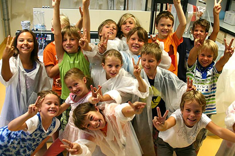 Auch heuer stillten die Kinder ihren Wissensdurst wieder mit Experimenten im Offenen Labor Graz.