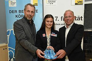 Gerhard Tschakert, Alexandra Toth und Christian Röhrling (v. l.) Foto: Uni Graz/Schweiger