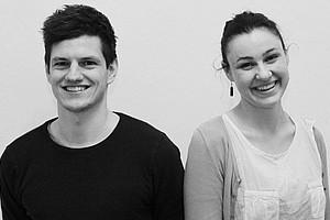 Zsombor Jurcsak und Eva Ploder sind Peer-MentorInnen der ersten Stunde. Foto: Uni Graz