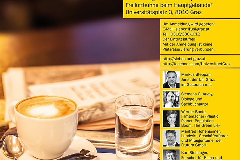 """Das """"Politik Café Spezial"""" findet im Rahmen der Nachhaltigkeitstage der Universität Graz am 6. und 7. Juni 2018 statt."""