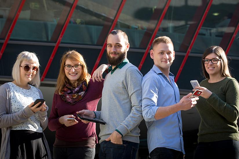 Eine App für uns: UniGrazMobile gibt es jetzt in einer verbesserten Version. Foto: Uni Graz/Tzivanopoulos