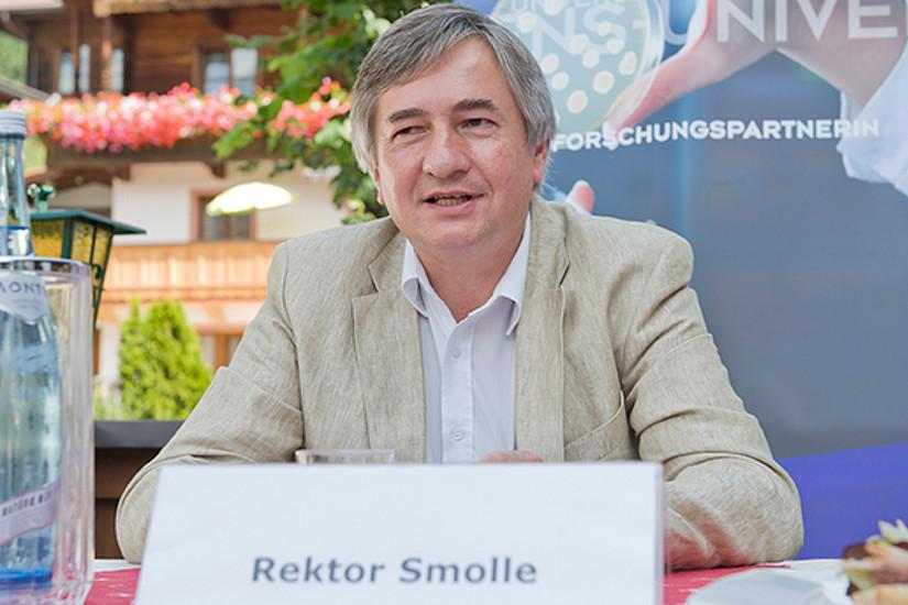 Rektor der Meduni Graz Josef Smolle ...