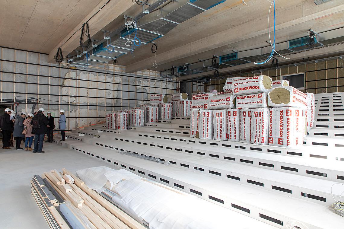 430 Personen werden im neuen Hörsaal in Zukunft Platz finden. Foto: Uni Graz/Lunghammer