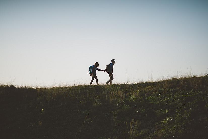 Wanderer als Pärchen