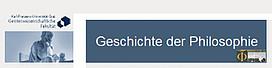 """Arbeitsbereich """"Geschichte der Philosophie"""""""