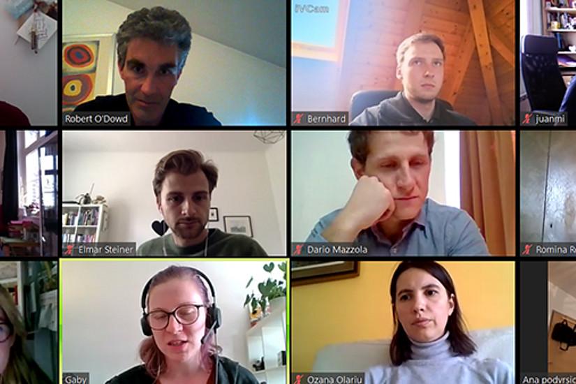 """Offen für die Arqus-PartnerInnen: 26 TeilnehmerInnen aus vier Nationen nahmen an der ersten online Ausgabe des """"Teaching in English""""-Kurses der Universität Graz teil. Foto: Goldgruber."""