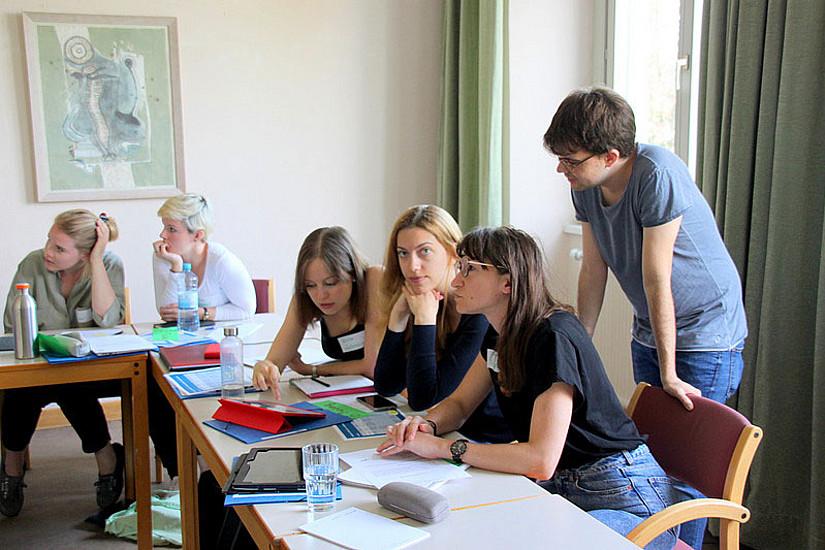 Wortstellung und Intonation waren Themen der Summerschool zu Audiovisuellen Medien. Foto: Uni Graz.
