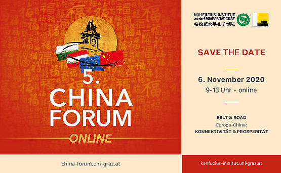 SAVE THE DATE - 5. China-Forum - 6.11.20, 9 bis 13 Uhr