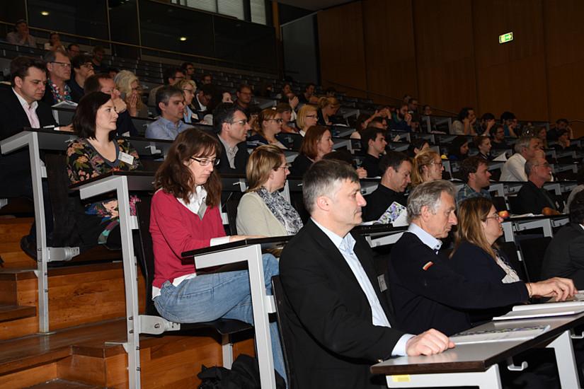 Volles Haus bei der Eröffnung des Österreichischen Klimatages. Fotos: Uni Graz/Eklaude.