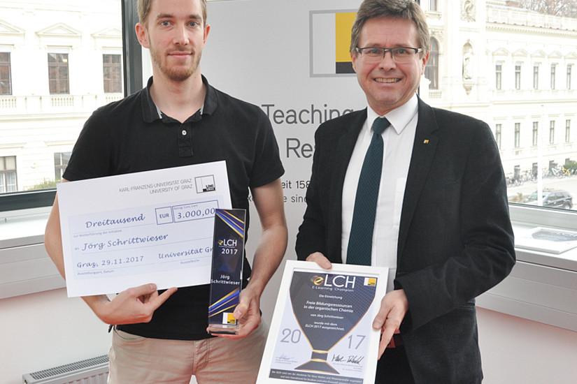 ELCH-Gewinner 2017: Der Chemiker Jörg Schrittwieser.