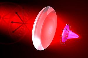 Durch Fokussieren Licht zum Drehen bringen. Image: Uni Graz/Banzer