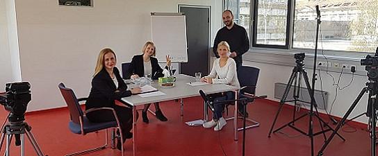 Bei den Dreharbeiten...Foto: Verena Gschweitl