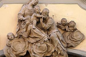 Philipp Jakob Straub: Die Heilige Familie, zu sehen in der Grazer Mariahilferstraße 11. Fotos: Stadlober