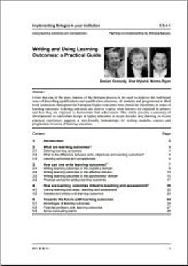 Writing and Using Learning Outcomes: a Practical Guide