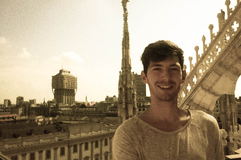 BWL-Student Luka Floigl absolvierte ein Auslandssemester in Italien. Foto: Floigl