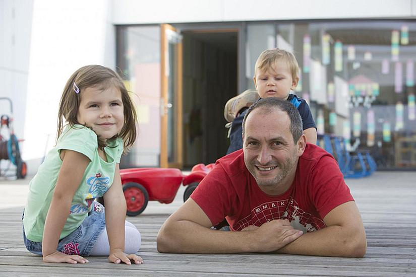 Die Vereinbarkeit von Familie und Beruf wird an Karl-Franzens-Universität Graz und TU Graz besonders großgeschrieben. Foto: TU Graz/Lunghammer.