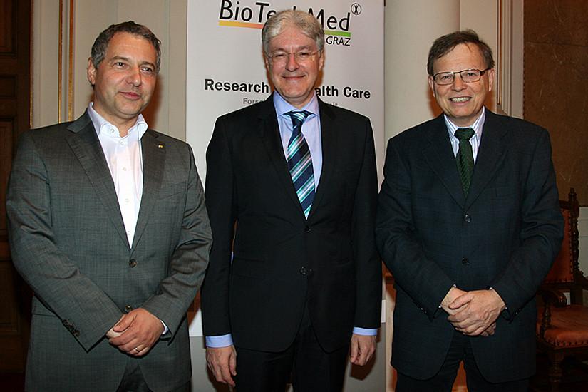 BioTechMed-Koordinatoren Steppan, Mangge und Stollberger