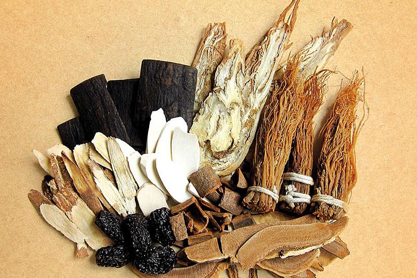 Ebenfalls zu erfahren ist, wie Heilkräuter der Traditionellen Chinesischen Medizin, darunter Ginseng, Zimtbaumrinde und Purpurkrautwurzel, aussehen, riechen und wirken. Foto: pixabay