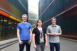 Theo Sagmeister, Tea Pavkov-Keller und Christoph Buhlheller (v. l.) haben bisher unbekannte Proteinstrukturen entschlüsselt. Foto: Uni Graz/Schweiger