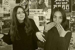Adriana Urbano Valero und Andrea Vázquez Alonso. Foto: Uni Graz