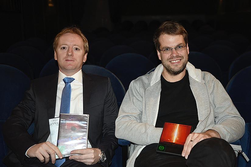 Physiker Axel Maas (rechts) nahm unter der Regie von Fritz Treiber Science-Fiction-Filme unter die Lupe. Foto: Uni Graz/Stingeder