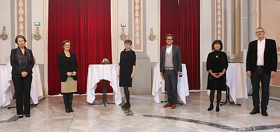 The rectors of the three institutions and the leadership team of the RCIE/ Photo Copyright Martin Gössler