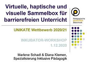 Students Schadl & Klemen nominated for Unikate - Copyright PH Stmk