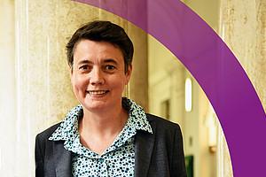 """Punktgenau zum Frauentag 2021 hat Astrid Veronig mit neun weiteren Wissenschafterinnen die Studie mit dem Titel """"Women's Day Event"""" zu einem Sonnenausbruch, der am Frauentag 2019 stattgefunden hat, eingereicht. Foto: Uni Graz"""