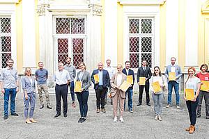 14 DoktorandInnen, 14 unterschiedliche Themen, ein Zugang: Welche Rolle spielt der Mensch im Zukunftstheater der Digitalisierung. Foto: Uni Graz/Schweiger