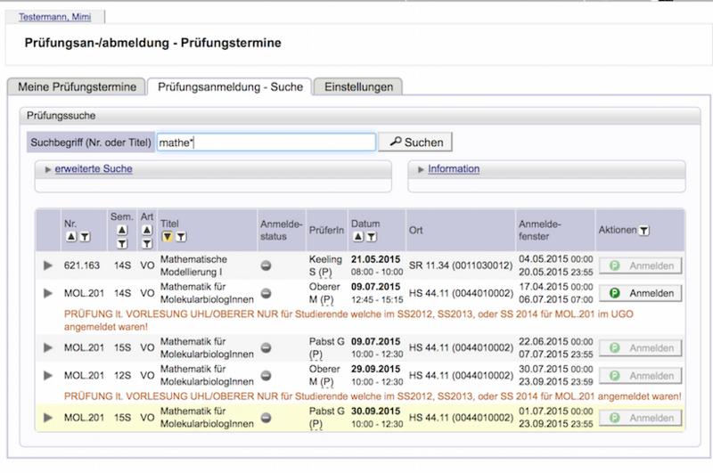 Interuniversitäre Prüfungsanmeldung In Den Onlinesystemen