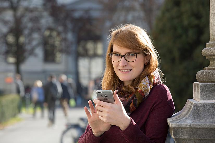 Die Universität Graz macht ihren Campus digital: In Kooperation mit der WU Wien und der Veterinärmedizinischen Universität entsteht eine App für Studierende. Foto: Uni Graz/Lunghammer
