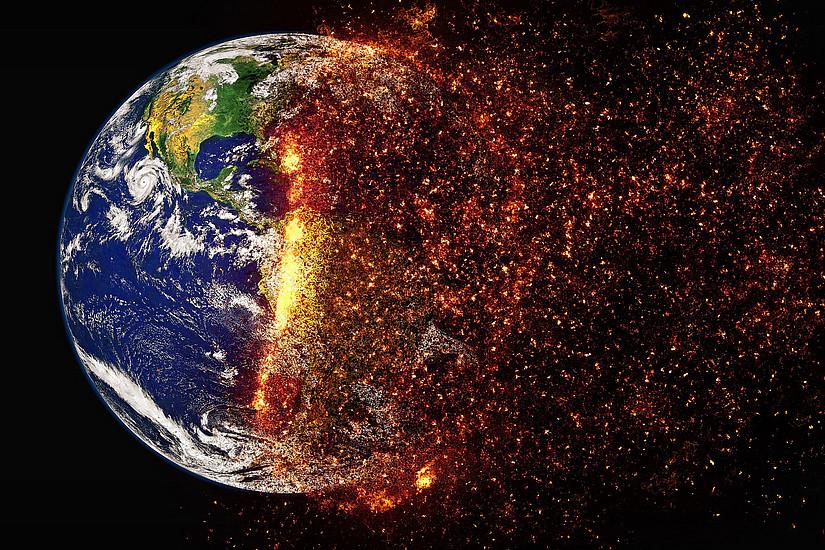 Der weltweite Ausstoß von Treibhausgasen befeuert nach wie vor die globale Erwärmung. Foto: pixabay