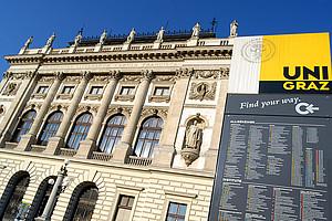 Drei Bewerber werden ihre Konzepte in der Aula präsentieren. Foto: Uni Graz/cp-pictures