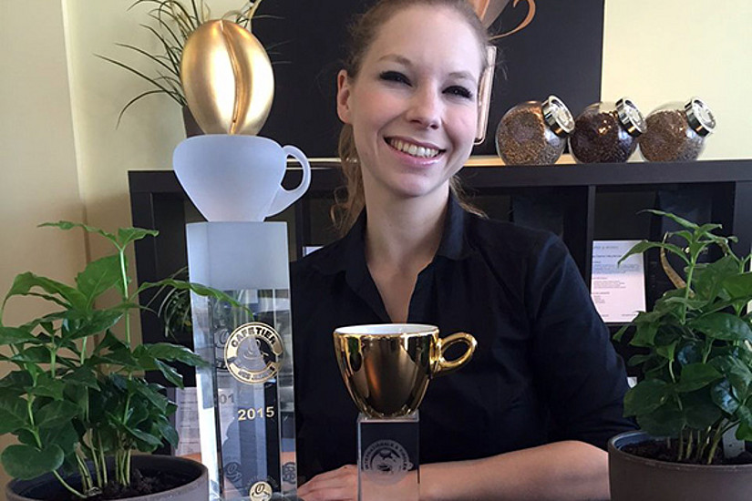 Jennifer Nydegger ist dank Uni-Graz-Erde die beste Barista des Jahres 2015. Foto: Turm & Bogen