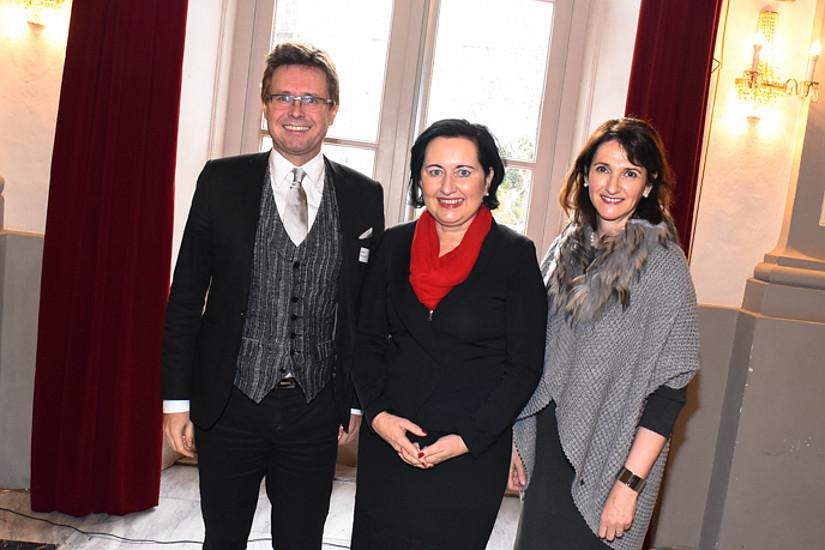 Martin Polaschek, Elisabeth Meixner und Regina Weitlaner eröffneten den 3. Tag der Fachdidaktik.